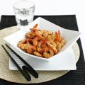Peppery soy sauce prawns