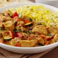 Turkey & coconut korma