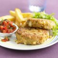 Edam bean burgers with tomato relish