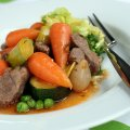 Navarin of lamb with chantenay carrots & spring vegetables