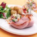 Gammon with tropical salsa