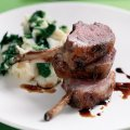 Rack of lamb with garlic mash & spinach