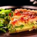 British turkey, gruyere & broccoli quiche