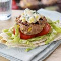 Phil Vickery's turkey, basil & corn burgers
