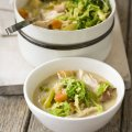 Pot-roast turkey broth
