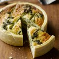 Tenderstem broccoli & bacon quiche