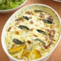 Butternut squash & Edam gratin with sage