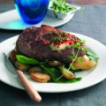 Sirloin steak with thyme & red chilli