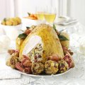 Phil Vickery's saffron turkey with wild rice & cranberry stuffing