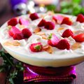 Classic Christmas forest fruit trifle