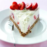 Strawberry creme fraiche cheesecake