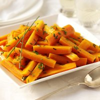Chardonnay-glazed carrots with chive butter