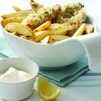 Lemon & parsley chicken with chips