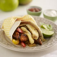 Chicken & Bramley apple fajitas