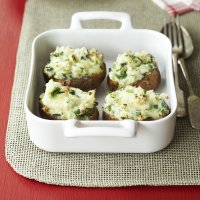 Cheesy leek jacket potatoes