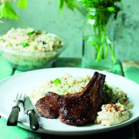 Cinnamon & chilli lamb chops with couscous salad