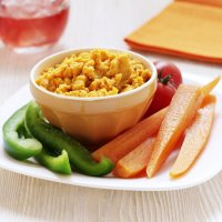 Roasted carrot & houmous dip
