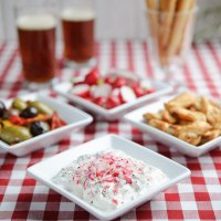 Greek-style radish & mint dip