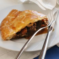 Ed Baines' steak pie