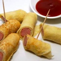Mini Pancake Hot Dogs Secret Sauce