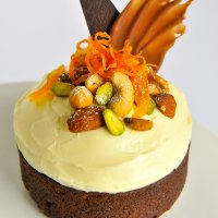Chocolate Easter carrot cake