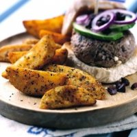 Greek lamb & feta burgers