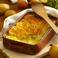 Onion & potato gratin