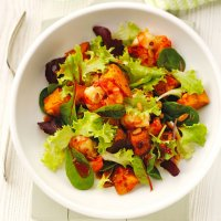 Moroccan sweet potato & prawn salad