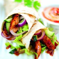Oriental chicken & salad wraps