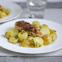 Alan Coxon's citrus potatoes with blackened Cajun chicken